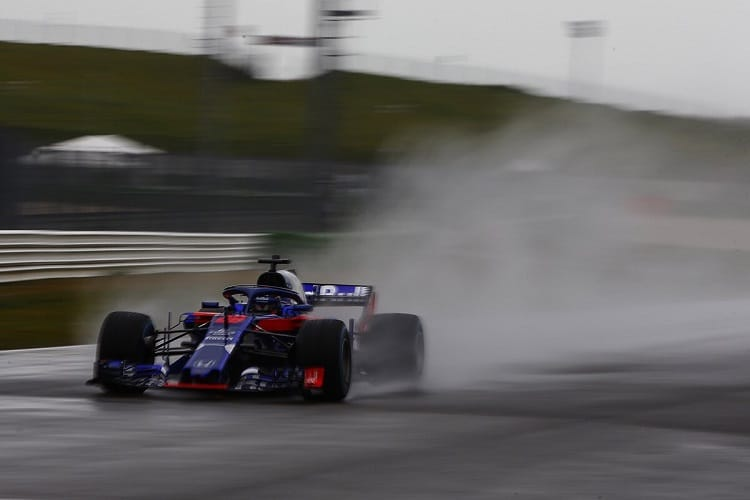 Brendon Hartley gave the STR13 its track debut at Misano