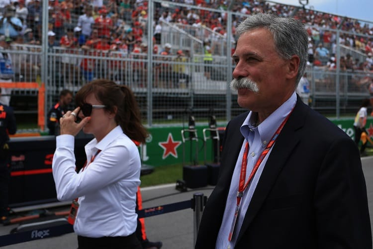Chase Carey insists F1 will still be glamourous despite the ban on grid girls
