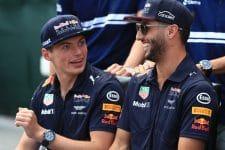 Daniel Ricciardo said he sometimes overdrove due to the pressure from team-mate Max Verstappen