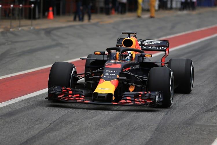 Daniel Ricciardo was quickest on day one for Red Bull