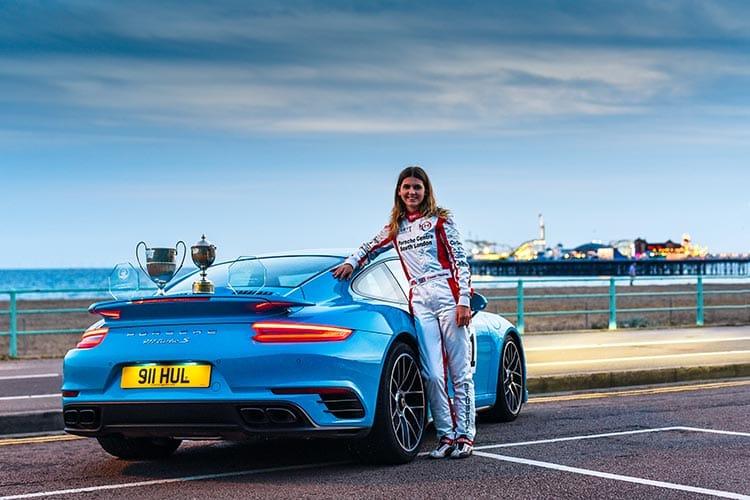 Esmee Hawkey with Porsche Caymen GT4