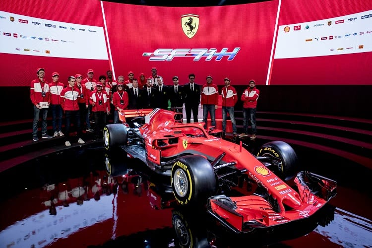 Ferrari launched the SF71H in a ceremony at Maranello on Thursday