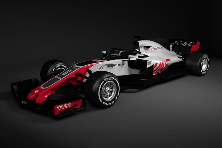 Haas unveil new VF-18 auto  for 2018 Formula 1 season