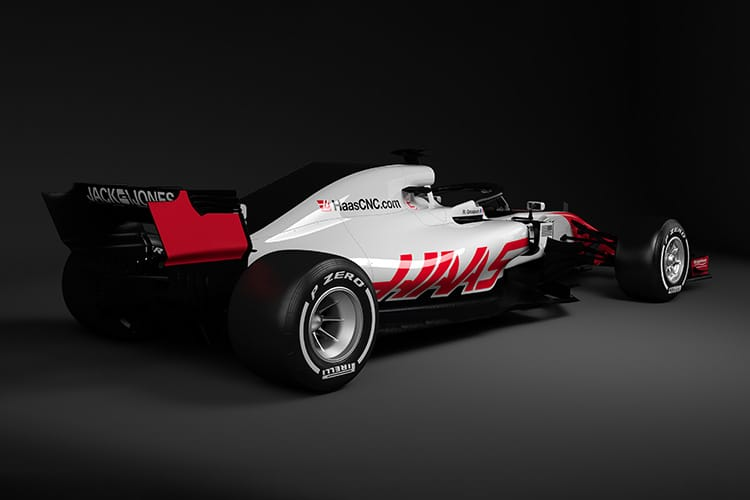 Haas reveals first 2018 F1 auto  images