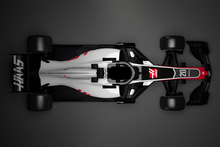 Haas reveals first shots of F1's Halo era