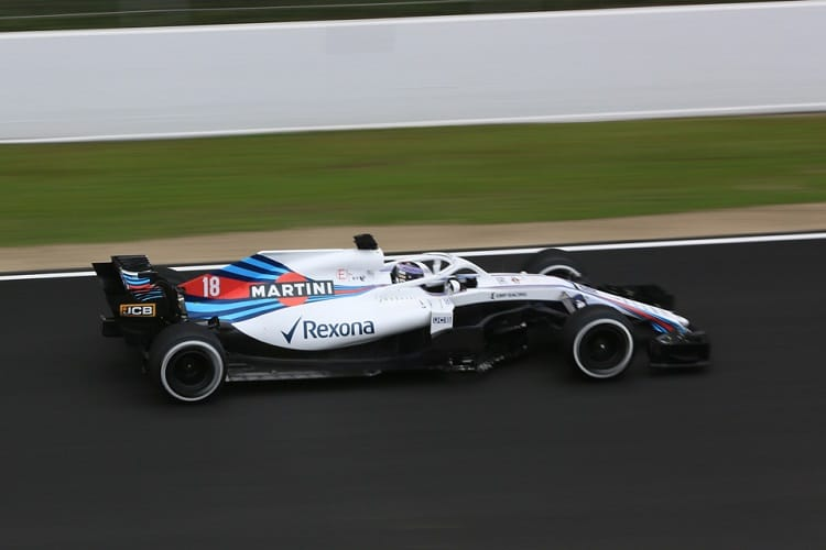Lance Stroll ended ninth fastest on Monday