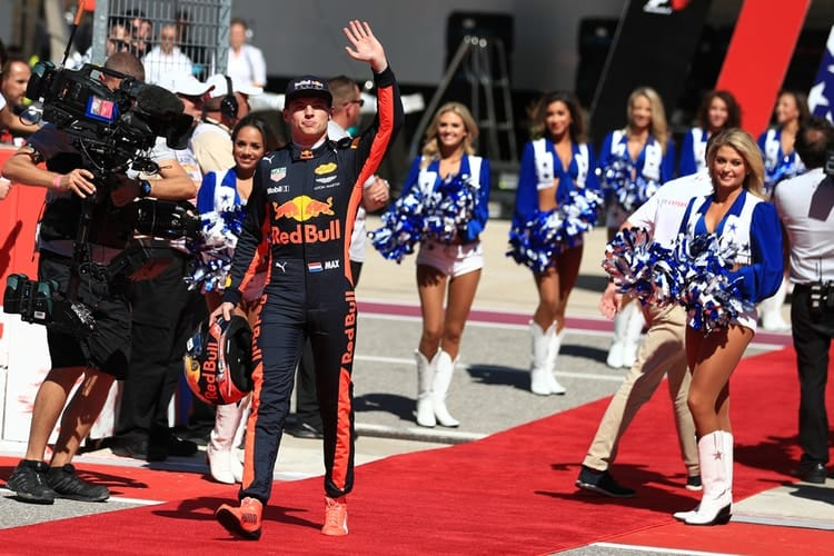 Max Verstappen during USGP 2017 driver parade