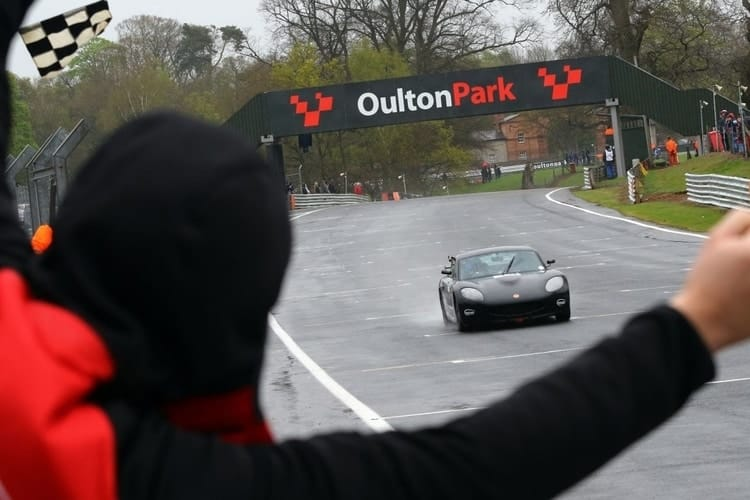 Max Bird winning his first Ginetta GT5 race on debut at Oulton Park 2017.