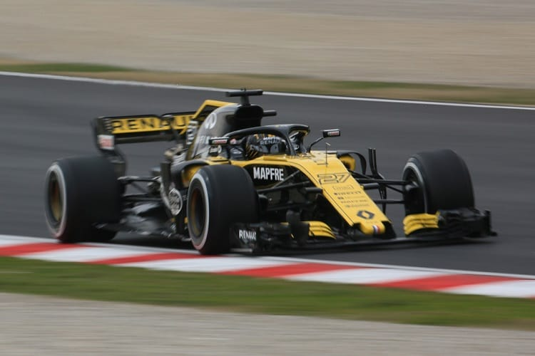 Nico Hulkenberg ended the day fourth fastest