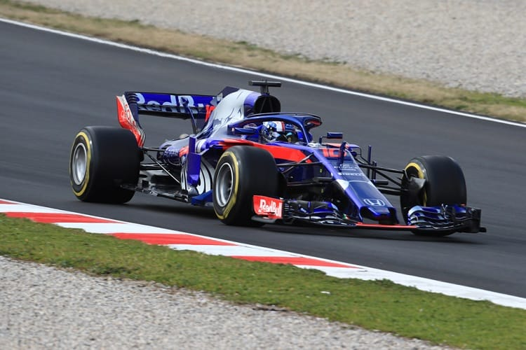 Pierre Gasly got his first taste of the STR13 on Tuesday