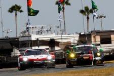 Porsche 911 RSR (912), Porsche GT Team: Earl Bamber, Laurens Vanthoor, Gianmaria Bruni, Porsche 911 GT3 R (73), Park Place Motorsports: Jörg Bergmeister, Patrick Lindsey, Norbert Siedler, Timothy Pappas