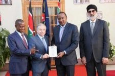 Jean Todt alongside dignitaries from Uganda and Kenya