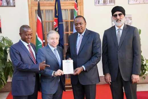 Jean Todt alongside dignitaries from Uganda and Kenya