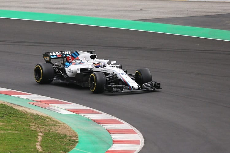 Sergey Sirotkin took to the track for the first time as an official F1 driver
