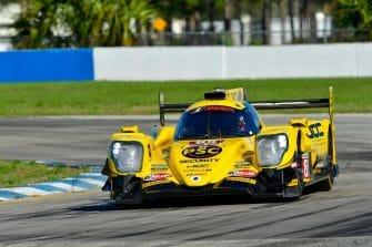 Simon Trummer crashed the #85 JDC-Miller Motorsports ORECA on Friday