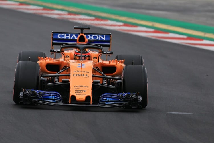 Stoffel Vandoorne ended third fastest on day two