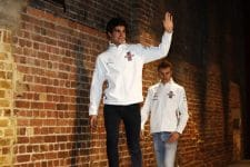 Lance Stroll and Sergey Sirotkin at the Williams Martini Racing launch