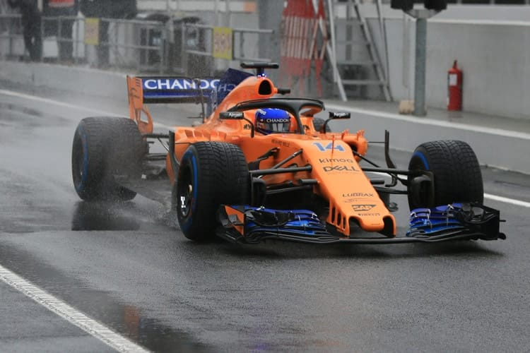 Alonso and McLaren 'fastest' on snowy third day of ...