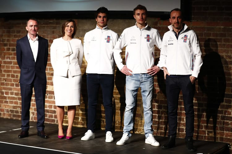 The Williams team at the FW41 Launch
