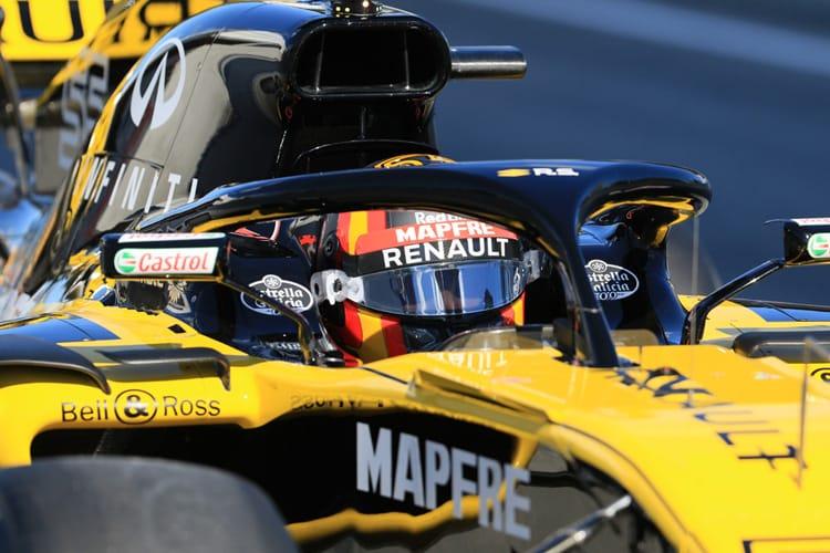 Carlos Sainz Jr. drives his Renault car