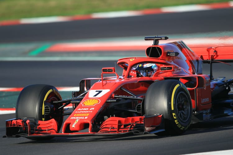 Kimi Raikkonen at Barcelona during 2018 winter test.