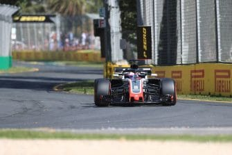 Romain Grosjean during qualifying for the 2018 Australian GP