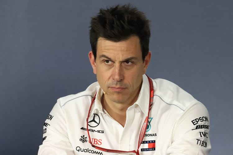 Toto Wolff during press conf. for 2018 Australian GP