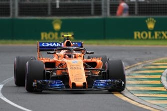 Stoffel Vandoorne drives around Albert Park's second turn