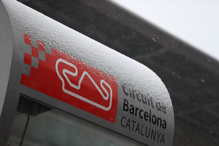 Heavy snow for the 1st Barcelona Test
