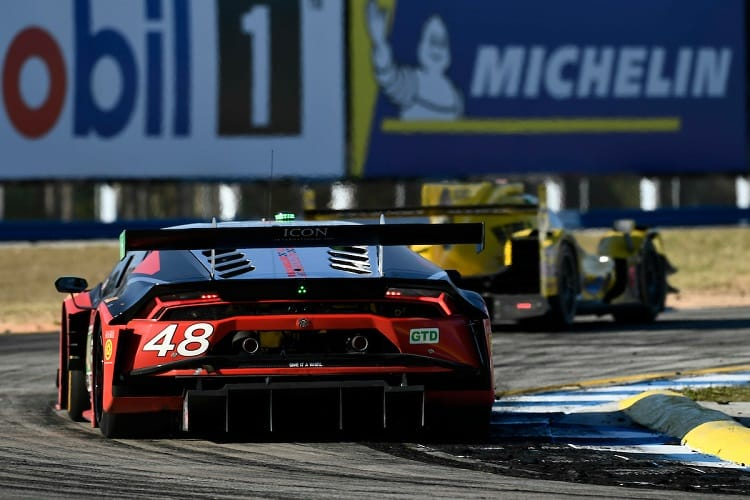 The #48 Lamborghini won the GT Daytona class at Sebring