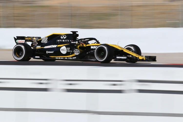 Renault completed 190 laps on Wednesday between Sainz and Hulkenberg