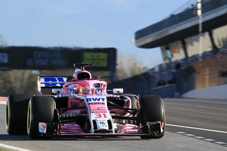 Esteban Ocon completed 130 laps on Wednesday