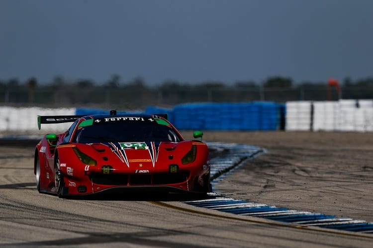 Frankie Montecalvo was eliminated within the first hour of the Twelve Hours of Sebring