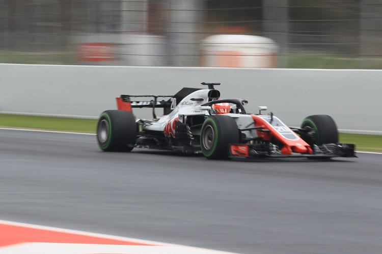 Kevin Magnussen finished fourth fastest on Thursday