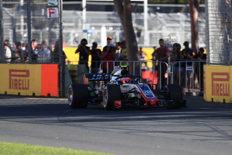 Both Haas drivers retired in Australia