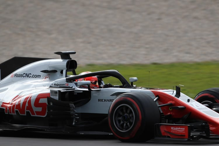 Kevin Magnussen was second fastest on Thursday