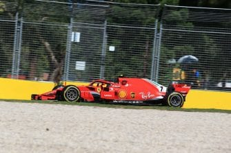 Kimi Raikkonen will start on the front row in Australia