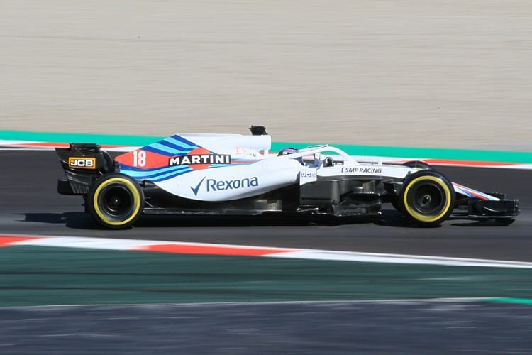 Lance Stroll only drove in the afternoon session on Thursday but completed 67 Laps