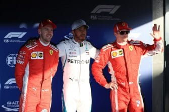 The top three line-up after Qualifying in Australia