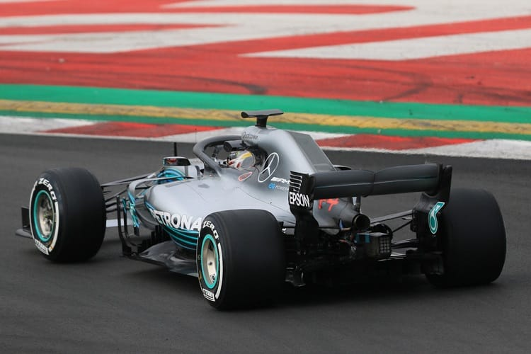 Lewis Hamilton was fastest on day four in Spain