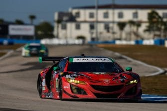 The #93 MSR Acura was in contention despite a heavy practice crash