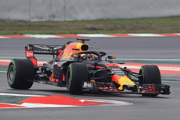 Max Verstappen completed thirty-five laps on Thursday