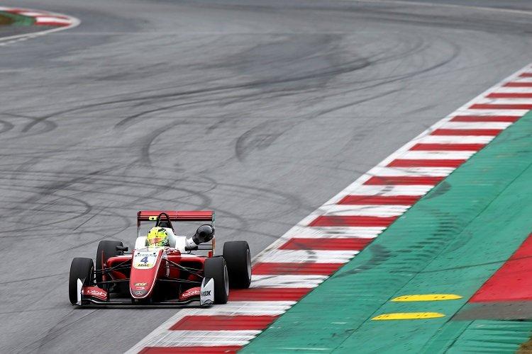 Mick Schumacher was quickest on day two in Austria