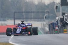 Honda was pleased with the productive first test of the Toro Rosso era