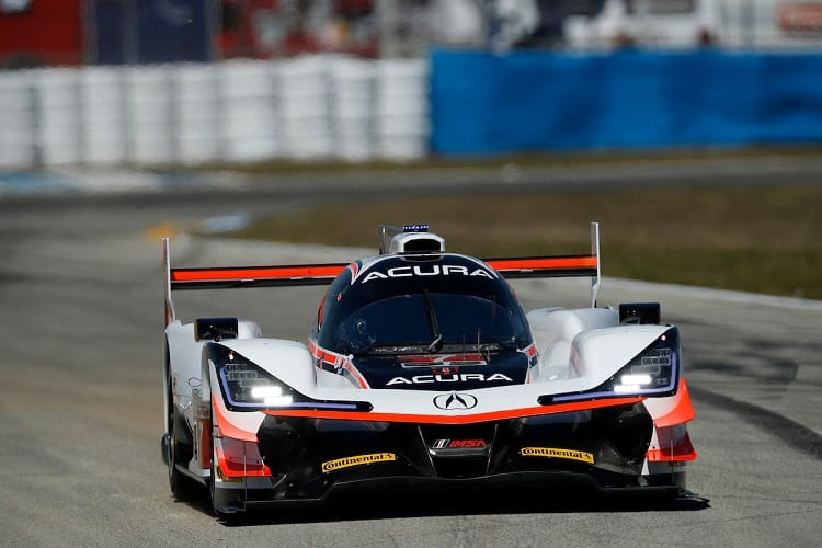Ricky Taylor put the #7 Acura Penske on top in FP2
