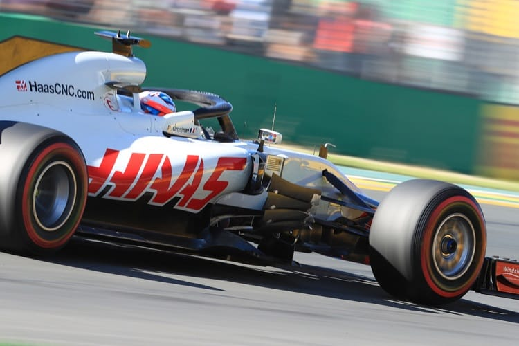 Romain Grosjean was sixth fastest on Friday afternoon