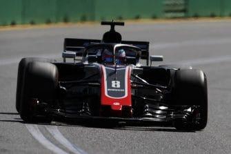 Romain Grosjean impressed on day one in Australia