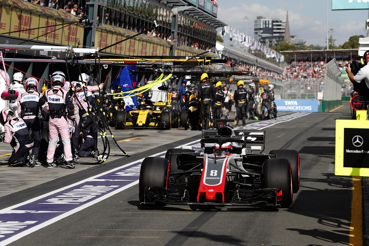 Both Haas drivers suffered issues in their pit stops