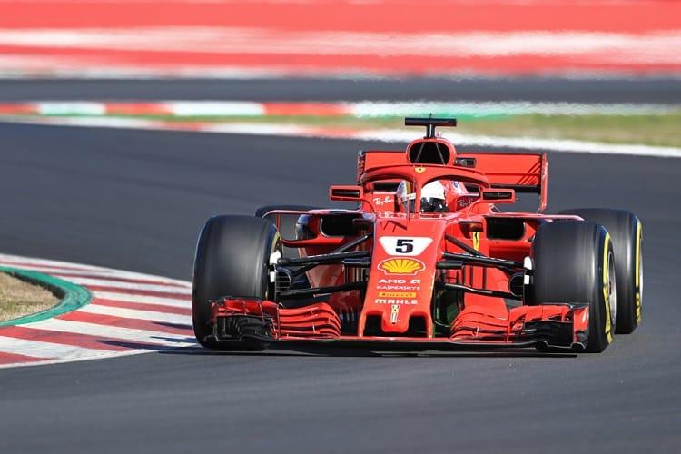 Sebastian Vettel was fastest on day one