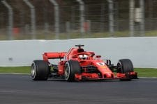 Sebastian Vettel topped day three in Spain
